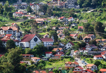 View of the rural town of Colonia Tovar, in aragua state, Venezuela.