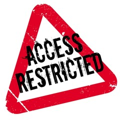 Access Restricted rubber stamp