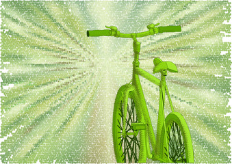 bicycle green road