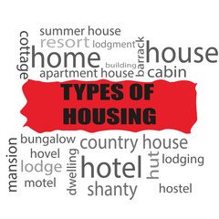 Word types of housing.