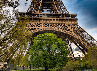 The Eiffel Tower at sunset - Paris