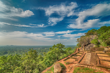 Sri Lanka: ancient Lion Rock fortress in Sigiriya or Sinhagiri