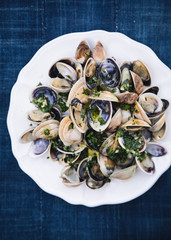 Grilled Clams with Chimichurri