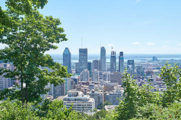 scenic view of summer Montreal