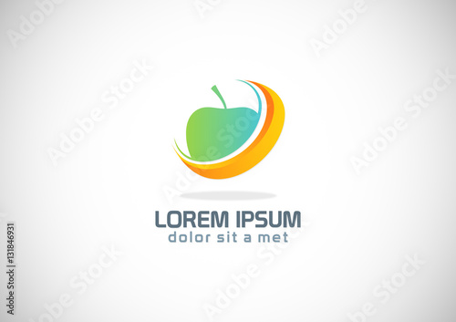 """""""apple fruit abstract logo"""" Stock image and royalty-free ..."""