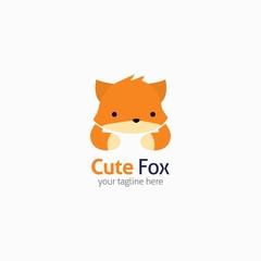 Fotobehang Illustraties Fox Logo design template. Vector Illustration