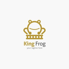 Frog Logo Design Template. Vector Illustration