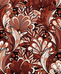 Abstract floral background.Vector