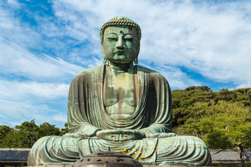 The Great Buddha in Kamakura.  Located in Kamakura, Kanagawa Prefecture Japan.