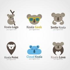 Koala Logo Design Template. Vector Illustration