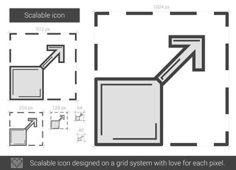 Scalable line icon.
