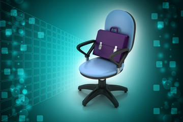 Executive chair with briefcase