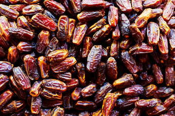Raw Organic Dates Ready to Eat. Background