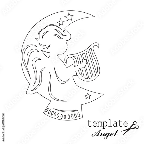 Quot Template Angel For Cut Of Laser Or Engraved Stencil For