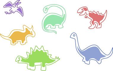 dino cartoon in color