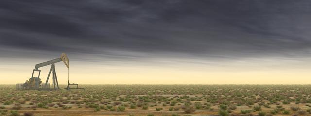 Ölpumpe in einer Landschaft