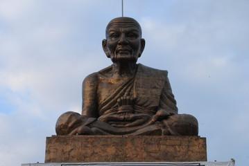 Human Sculpture made of bronze metal in Thailand