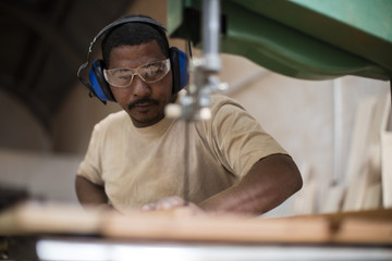 Craftsman working in wood work