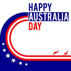 Australia day themed graphic design with kangaroo silhouettes