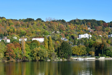 Meulan, France - october 31 2016 : picturesque city in autumn