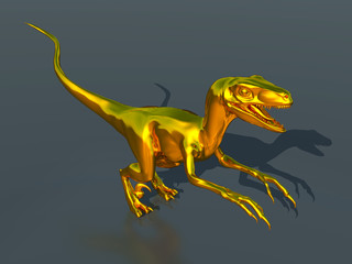 Golden Velociraptor