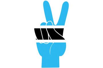 Botswana Peace Finger