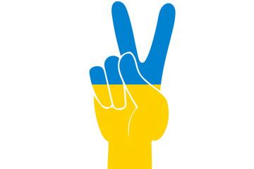 Ukraine Peace Finger