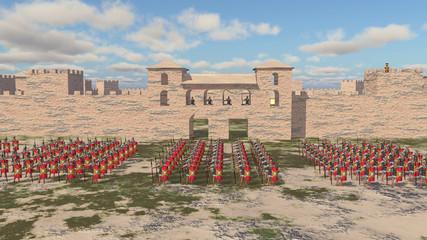 Römisches Kastell und Legionäre