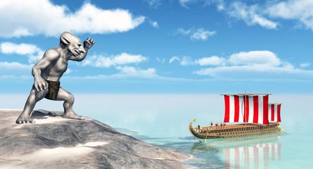 Odysseus bei den Zyklopen
