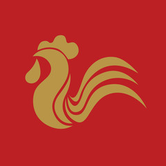Chinese new year rooster card design