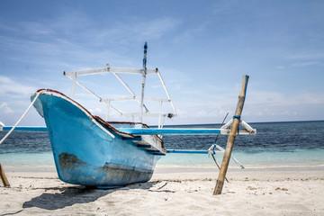 Boot am Strand von Gili Meno