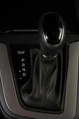 Close up of car gear stick