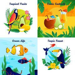 Tropical Design Concept Set