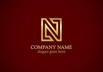 gold letter n company logo