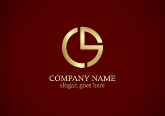 round letter s gold company logo