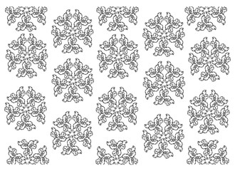 Thai Pattern, Illustration of Beautiful Black and White Vintage Texture Wallpaper Background for Add Content or Picture.