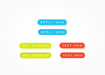 Apply Now, Get Started & Test Now Web Buttons