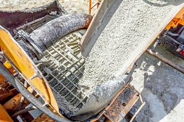 Detail's on concrete mixer
