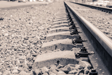 Photograph of  some train rails