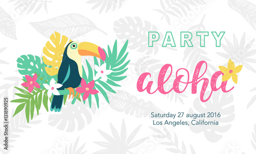 hawaiian party banner template stock image and royalty free vector files on pic. Black Bedroom Furniture Sets. Home Design Ideas