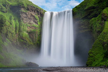 Printed roller blinds Waterfalls Skogafoss waterfall long exposure
