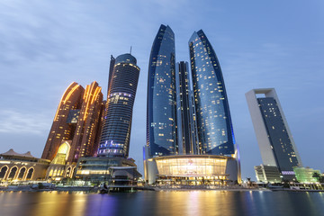 Photo sur Toile Abou Dabi Etihad Towers in Abu Dhabi, UAE