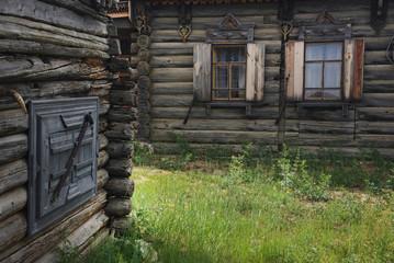 Siberian village on Olkhon Island, Baikal Lake