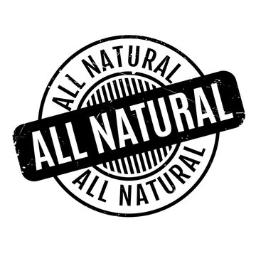 All Natural rubber stamp