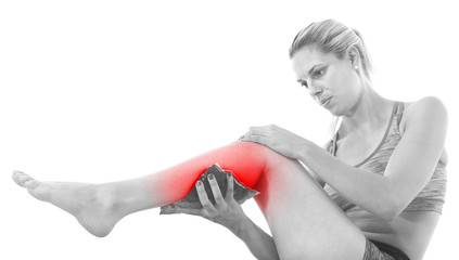 Acute pain in a knee.