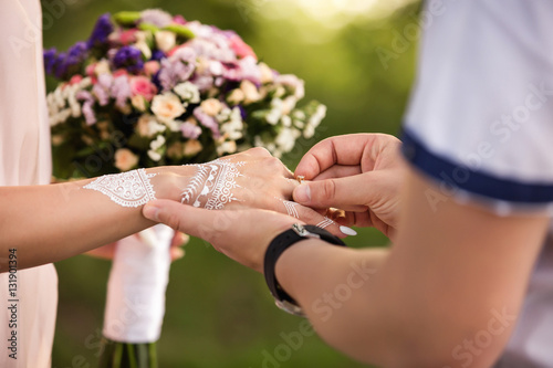 Proposal Of Marriage Or Engagement Of Indian Couple Engagement Ring