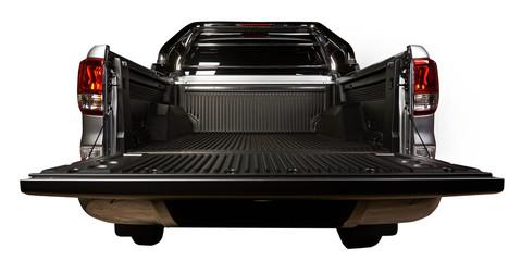 Open pickup trunk