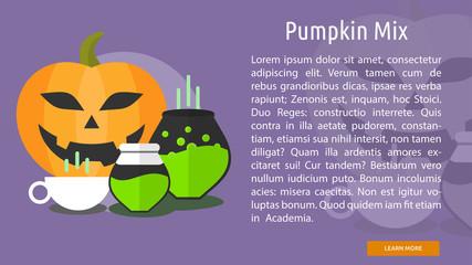 Pumpkin Mix Conceptual Banner