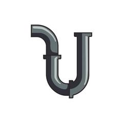 pipe icon illustration