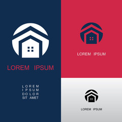round house abstract roof logo
